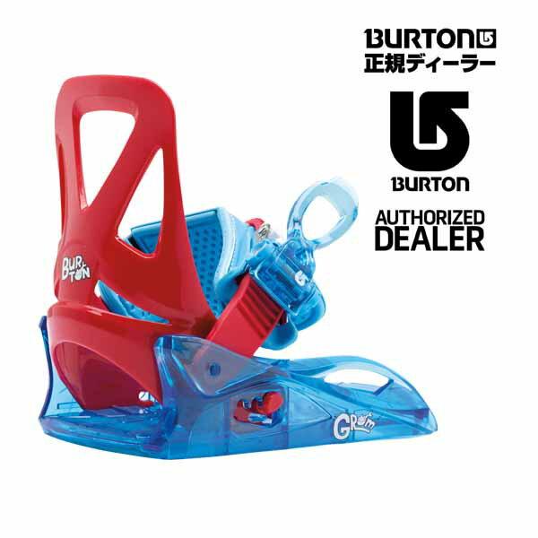 BURTON・バートンBURTONキッズ用【GROM Bindings/グロム バインディング 】カラー:Red/Blueサイズ:Youth(20〜21cm)送料無料でお送り致します。