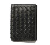 ボッテガヴェネタ カードケース/名刺入れ BOTTEGA VENETA 120701 V4651 レザー ブラック
