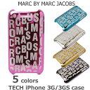 iPhone 3G/3GSケース/アイフォンケース MARC BY MARC JACOBS マークバイマークジェイコブス ロゴ/メタリック