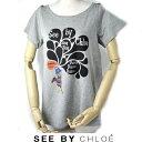 シーバイクロエ 半袖 Tシャツ SEE BY CHLOE キャット/猫 グレー サイズ40