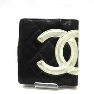中古 カンボン 二つ折り財布 がま口 ラムスキン Bラン