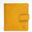 【美品】LOUIS VUITTON ルイヴィトン ポルト ビエ コンパクト エピ M63559 エピレザー レディース財布 二つ折り財布(小銭入れあり)【中古】