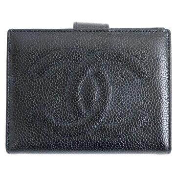 CHANELシャネルキャビアスキン二つ折り財布二つ折り財布【中古】