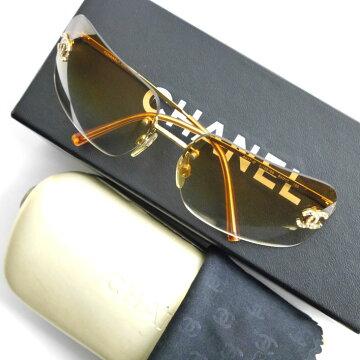 CHANELシャネルココマーク石付きサングラスサングラス4017D/c.125/56【中古】