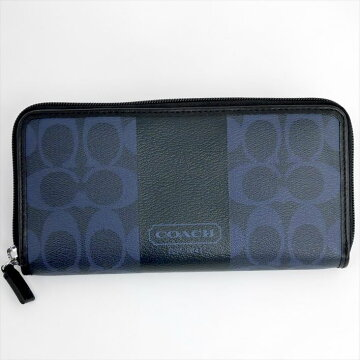 COACHコーチラウンドファスナー財布【中古】
