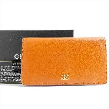 CHANELシャネルココマーク2つ折り長財布財布A68706