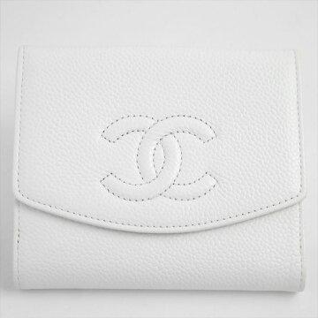 CHANELシャネルCCマーク二つ折り財布