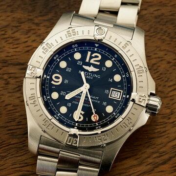 ブライトリングBREITLINGスーパーオーシャンスティールフィッシュ腕時計中古