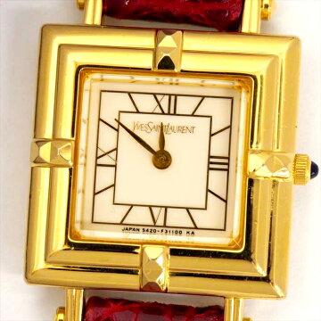 【ポイント3倍】YEVSSAINTLAURENT腕時計中古