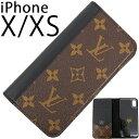 ルイヴィトン アイフォンケース IPHONE X / IPHONE XS フォリオ モノグラム ブラック 黒 レザー LOUIS VUITTON ビトン メンズ レディー..