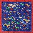 エルメス 大判スカーフ カレ90 シルク100% 木馬柄(新品)