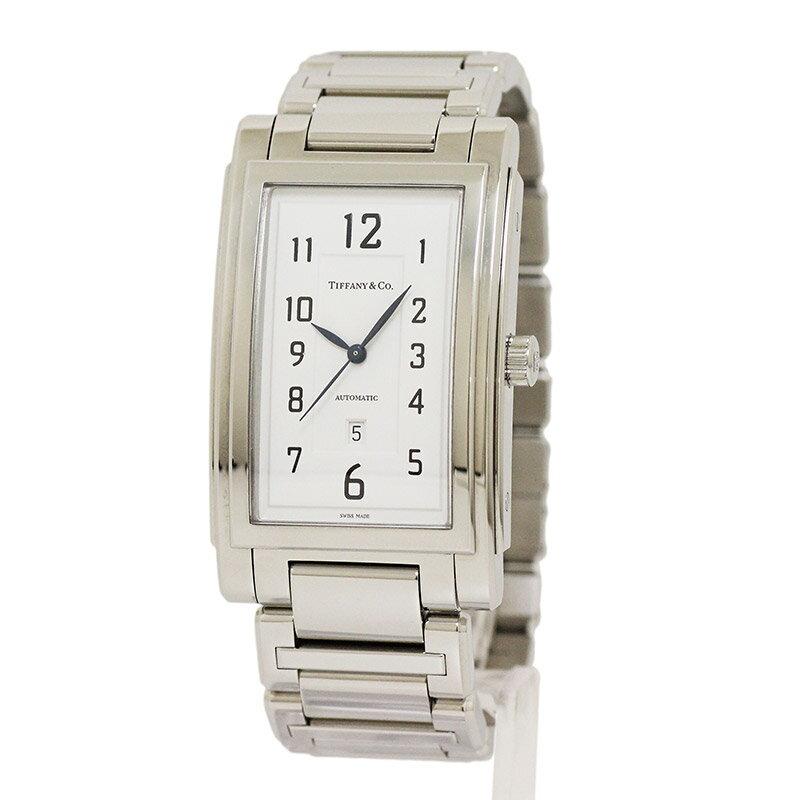 ティファニー グランド レクタンギュラー デイト 腕時計【未使用 新品同様】 【送料・手数料無料】【同時エントリーでポイント最大20倍】