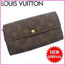ルイヴィトン Louis Vuitton ファスナー長財布 ファスナー 二つ折り メンズ可 ポシェット・ポルト モネ クレディ モノグラム ...