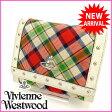 ( 人気 ・) ヴィヴィアン・ウエストウッド Vivienne Westwood 二つ折り 財布 オーブ キャンバス×レザー 【中古】 C1140 ★