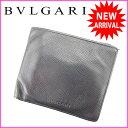 ブルガリ BVLGARI 二つ折り財布 メンズ可 ブラック ...