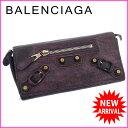 バレンシアガ BALENCIAGA 長財布 ファスナー 二つ折り レディース ベルトデザイン ジャイア