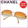 シャネル CHANEL サングラス メガネ メンズ可 ココマーク クリアオレンジ×ゴールド ステンレススチール×プラスティック (あす楽対応)激安 人気【中古】 D1055