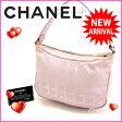 (良品) シャネル CHANEL ハンドバッグ ワンショルダー ニュートラベルライン  ピンク キャンバス 【中古】 D917