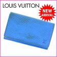 ルイヴィトン Louis Vuitton L字ファスナー財布 二つ折り メンズ可 /ポルトモネビエトレゾール エピ M61730 ブルー PVC×レザー (あす楽対応)(参考定価60900円)【中古】 J1300 ★