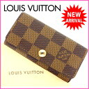 ルイヴィトン Louis Vuitton キーケース /4連キーケース /メンズ可 /ミュルティクレ4 ダミエ N62631 PVC×レザー (あす楽対応)( 人気 ・ 美品 )(参考定価21000円)【中古】 J2337