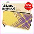 【楽天スーパーSALE】 ヴィヴィアン・ウエストウッド Vivienne Westwood 長財布 ラウンドファスナー オーブ イエロー PVC×レザー (あす楽対応) 人気 美品 【中古】 J3919 ★