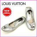 ルイヴィトン Louis Vuitton パンプス M シルバー レザー (あす楽対応)人気 激安【中古】 J3927