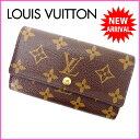 ルイヴィトン Louis Vuitton 二つ折り財布 廃盤レア メンズ可 /ポルトモネジップ モノグラム M61735 ブラウン PVC×レザー (あす楽対応) 人気 良品【中古】 J4150 ★