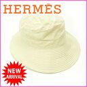 エルメス HERMES ハット 帽子 /レディース ベージュ ナイロン×ポリエステル (あす楽対応) 人気 良品【中古】 J3592