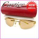 カルティエ Cartier サングラス メンズ可 パンテール ゴールド×ブラウン (あす楽対応) 人気 超 美品 【中古】 J6312 ★