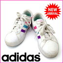 【中古】 アディダス adidas スニーカー キッズ ホワイト (あす楽対応)激安 人気 R1098