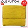 ルイヴィトン Louis Vuitton Wホック財布 エピ M6348 イエロー (あす楽対応)【中古】 R55 ★