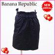 バナナリパブリック Banana Republic スカート ブラック ナイロン×綿 (あす楽対応)(良品・即納)【中古】 R943 ★