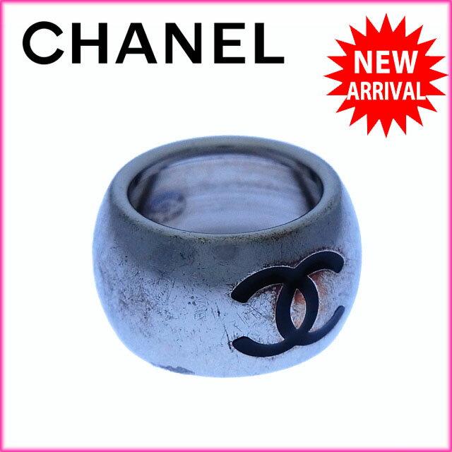 シャネル CHANEL 指輪 リング アクセサリー レディース ♯13号 ココマーク×ハート シルバー×ブラック シルバー素材 【】 J7612 シャネル アクセサリー レディース可 【1%オフ】品質があります。