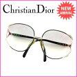クリスチャン・ディオール Christian Dior サングラス 度入り メンズ可 ブラック×ゴールド (あす楽対応)良品 【中古】 E903