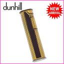 ダンヒル dunhill ライター メンズ ロゴ×ライン ゴールド×ボルドー ゴールドメタル (あす楽対応)激安 セール【中古】 A851
