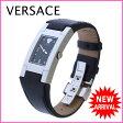 ヴェルサーチ VERSACE 腕時計 クォーツ レディース スクエアフェイス メドゥーサマーク ブラック×シルバー ステンレススチール×レザー (あす楽対応)新品 未使用(参考定価126000円)【新品 未使用】 J9321