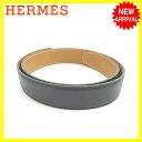 エルメス HERMES ベルト バックルなし レディース ブラック レザー (あす楽対応)良品 即納【中古】 E957