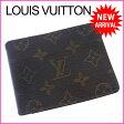 ルイヴィトン Louis Vuitton 二つ折り札入れ コンパクトサイズ メンズ可 ポルトフォイユミュルティプル モノグラム M60895 ブラウン PVC×レザー (あす楽対応) (参考定価43050円)【中古】 J6526 ★