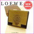 ロエベ LOEWE Wホック財布 メンズ可 ベージュ×ブラウン スエード×レザー (あす楽対応)人気 セール【中古】 J6775