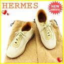 【中古】 エルメス HERMES スニーカー シューズ 靴 レディース ♯36ハーフ ローカット ク...