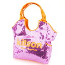 【中古】 キットソン トートバッグ トート ショルダーバッグ スパンコール ピンク オレンジ ポリエステル×スパンコール kitson P746