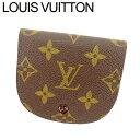 【中古】 ルイ ヴィトン Louis Vuitton コインケース 小銭入れ レディース メンズ ポルトモネグセ ブラウン ベージュ モノグラムキャンバス T7999