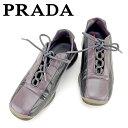 【中古】 プラダ PRADA スニーカー #37 1/2 靴...