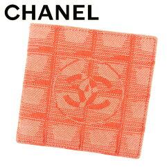 CHANEL【シャネル】 二つ折り財布(小銭入れあり) キャンバス/レザー レディース