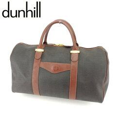 Dunhill【ダンヒル】 ボストンバッグ /キャンバス×レザー ユニセックス