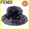 フェンディ FENDI ファーバケットハット 帽子 レディース メンズ 可 ブラック ファー 美品 セール 【中古】 J15926