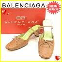 【中古】 バレンシアガ BALENCIAGA パンプス シューズ 靴 レディース ♯34ハーフ リボン付き