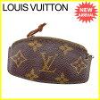 ルイヴィトン Louis Vuitton コインケース 男女兼用 エテュイクレピア モノグラム M62690 ブラウン モノグラムキャンバス (あす楽対応)訳あり 【中古】 N422