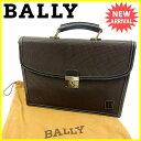 流行包, 飾品, 名牌配件 - バリー Bally ビジネスバッグ ハンドバッグ メンズ B ブラウン PVC×レザー 【中古】 J13195 .