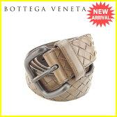 ボッテガヴェネタ BOTTEGA VENETA ベルト イントレチャート ブラウン×ブラック レザー×ブラック金具 人気 セール 【中古】 J13395